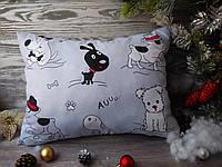 Подушка собака - черный песик,  42 см * 30 см