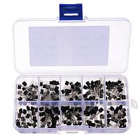 5 х 200 шт.10 значений Транзисторы Pack Pack Ассортимент транзисторов Набор с хранилищем Коробка