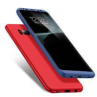 2 в 1 360 ° Передний чехол из PC + Задний чехол из Мягкого TPU Чехол по всему телефону для Samsung Galaxy S8 Plus