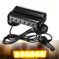 36W 12LED Двухместный номер с LED Work Light Bar Beacon Light Warning Strobe Light янтарный