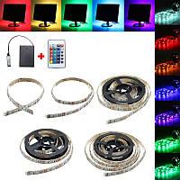 30/50/100/150/200CM 5050 RGB светодиодные ленты Light+Remote Battery Powered Party Home Decor DC5V