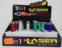 Светодиодный фонарик 3in1 Laser \ Led Light