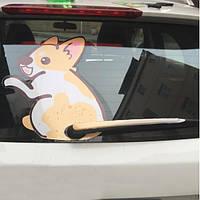 3D Авто Наклейки Автоtoon Кенгуру Перемещение хвостового оперения Стеклоочистители заднего стекла