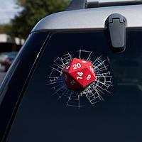 3D Red Авто Кости Наклейки заднего стеклоочистителя Светоотражающие надписи