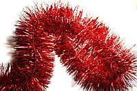 Мишура (дождик) красный 10 см.длина 3м (Польша)