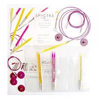 Набір знімних акрилових спиць для початківців Multi-Colored Spectra Flair Acrylic KnitPro