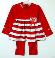 Платье-костюм вязаное для девочки (1-3 года)