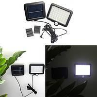 6W Солнечная работает с 56 светодиодами PIR движения Датчик настенный светильник На открытом воздухе Сад Yard Street Security Лампа