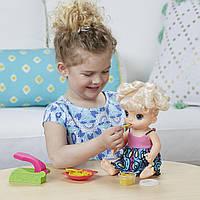 Интерактивная кукла Малышка Беби Элайв Супер закуски. Baby Alive Blonde Super Snacks