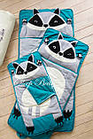 Слипик - комплект для сна 4в1 Нежная Кошечка плед конверт с подушечкой, фото 8