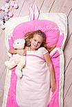 Слипик - комплект для сна 4в1 Нежная Кошечка плед конверт с подушечкой, фото 9