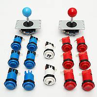 Аркады DIY Set Набор Видеоигры Два джойстика Twelve Happ Push Кнопки Две кнопки запуска