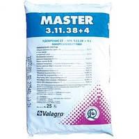 Комплексне добриво МАСТЕР / Master 3+11+38+4, 25кг Valagro
