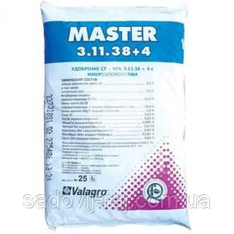 Комплексное удобрение МАСТЕР / Master 3+11+38+4, 25кг Valagro