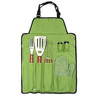 7Pcs Открытый барбекю барбекю для пикника Посуда Посуда Набор закатать портативный сумка Инструменты