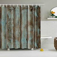 Старая деревянная дверь Дизайн душевой занавес водонепроницаемый полиэстер Ткань занавес ванной комнаты