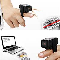 Мини Портативный носимого кольца Беспроводная связь Bluetooth 4.0 Считыватель штрих-кода сканер 1D UPC