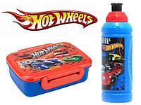 """Набор """"Hot Wheels"""". Ланч бокс (ланчбокс) + бутылка"""