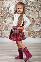 """Стильная детская юбка в клетку """"Шотландия"""""""