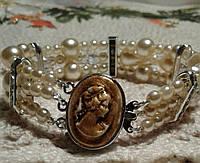 Браслет  из имитированного жемчуга   в подарок, фото 1
