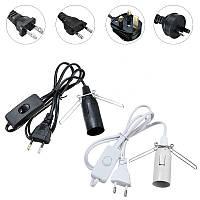 1.8M E14 Base Лампа Гималайская соль Электрический выключатель питания Белый Черный США EU UK AU Plug