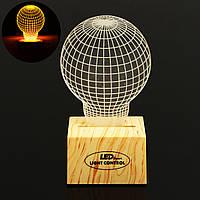 3D-желтый лампы индукционные управления Plug In LED Night Light Desk Настольная лампа Gift Decor