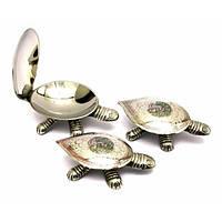 "Пепельницы бронзовые ""Черепахи"" набор 3 шт(12х7см13х7,5см14,5х9,5 см)"