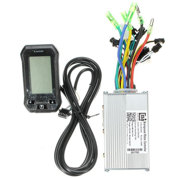 Купить 24/36 / 48V 350W Мотор Бесколлекторный Контроллер скорости LCD  Измерительный