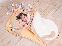 Слипик - комплект для сна 4в1 Персиковый Кот плед конверт с подушечкой