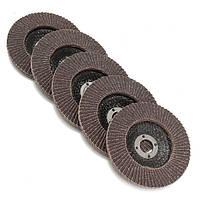 5шт 100мм 4 дюйма 80 Grit закрылков шлифовальной диск Угловая шлифмашина колеса