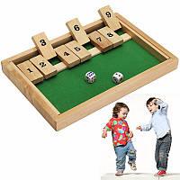 Деревянный ящик Традиционный паб совет кубиком Mathematic игра для семьи Дети ДЕТСКО