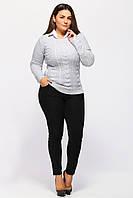 Вязаный свитер женский жемчуг (сердечки) 1