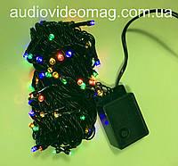 Новогодняя гирлянда - 100 светодиодов, 4 цвета, 8 режимов свечения, фото 1