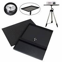 7 дюймов до 15 дюймов Металлический ноутбук PC Проектор лоток держатель для 1/4 дюйма 3/8 дюйма Винт штатив Стенд