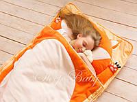 Слипик - комплект для сна 4в1 Рыжий Лисенок плед конверт с подушечкой