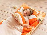Слипик - комплект для сна 4в1 Нежная Кошечка плед конверт с подушечкой, фото 7