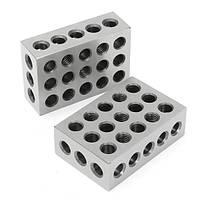 Machifit 2шт 1x2x3 Дюймовые блоки 23 отверстия Параллельный зажимной блок Фрезерный инструмент Точность 0.0001 дюйма