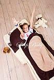 Слипик - комплект для сна 4в1 Нежная Кошечка плед конверт с подушечкой, фото 10
