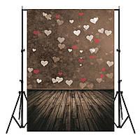 7X5ft Vinyl Деревянная Любовь День святого Валентина Фото Фон Студия Фон Фото Опора