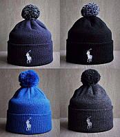 Тёплые зимние шапки Polo RL(на флисе).Топ качество