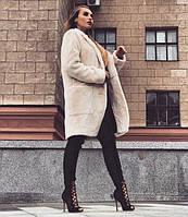 Женская шубка-пальто из эко меха,шиншилла