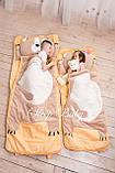 Слипик - комплект для сна 4в1 Нежная Кошечка плед конверт с подушечкой, фото 4