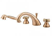 Врезной бронзовый смеситель на борт ванны Bianchi Old Fashion Италия