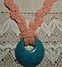 Романтический подарок для любимой -голубой крупный кулон