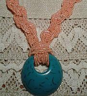 Романтический подарок для любимой -голубой крупный кулон, фото 1