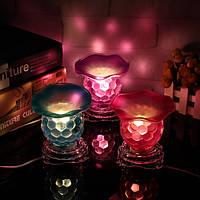 Креативный стекло Электрические масла горелки Ночь света Ароматные лампы 220V