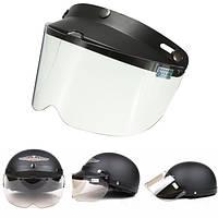 Универсальный мотоциклетный шлем флип вверх Visor Модель Прозрачная кнопка Wind объектива UV Солнцезащитный 7.9X5.7in