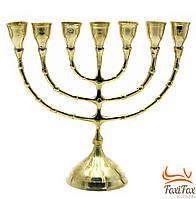Подсвечник на 7 свечей бронзовый