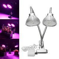 30W Гибкий Clip-on Hydroponics Растение LED Двойной растущий свет Полный спектр цветов Лампа