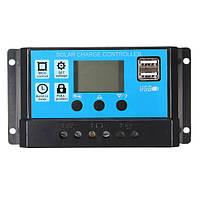 PMW 10/20/30A 12/24V LCD Солнечная Контроллер заряда Батарея Регулятор с подсветкой